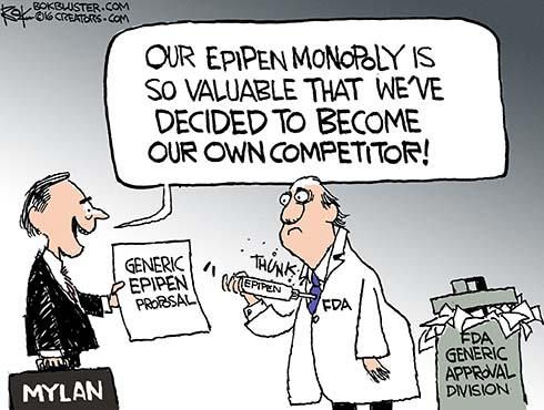 FDA Gives Mylan Monopoly Jolt On EpiPen
