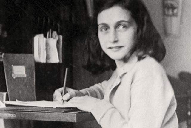 anne frank writing 1942