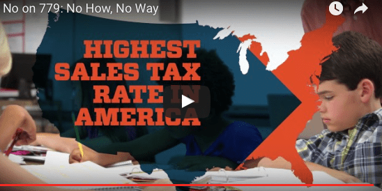 """Vote No on Tax Bill 779"": TV Ad Against SQ 779"