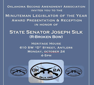 OK2A gives State Sen. Joseph Silk top award