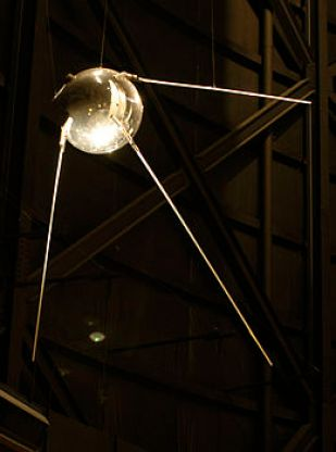 Replica of Sputnik 1 via Wikipedia
