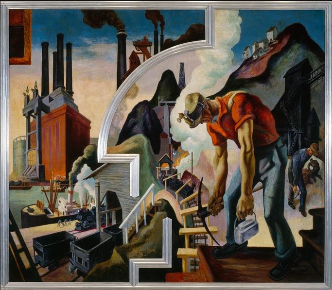 Thomas Hart Benton's America Today mural series, Coal