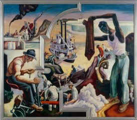 Thomas Hart Benton's America Today, Deep South