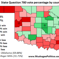 Election Results Map: State Questions 780 & 781