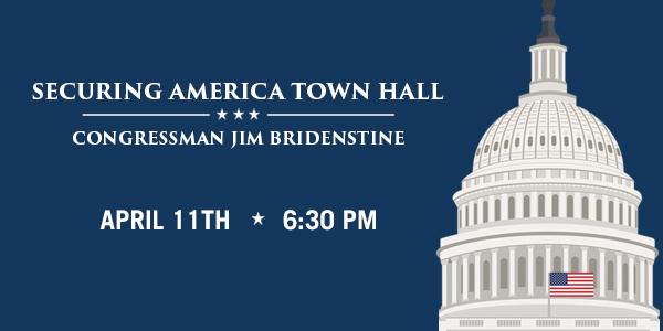 Congressman Bridenstine: Securing America Town Hall – Tulsa Oklahoma April 11th