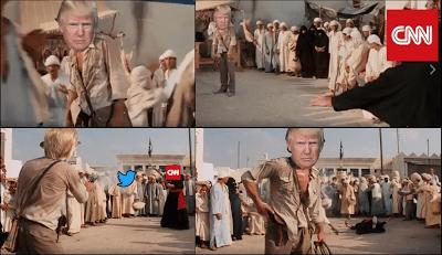 Trump vs. CNN, Indiana Jones-style