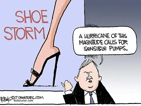 shoe storm