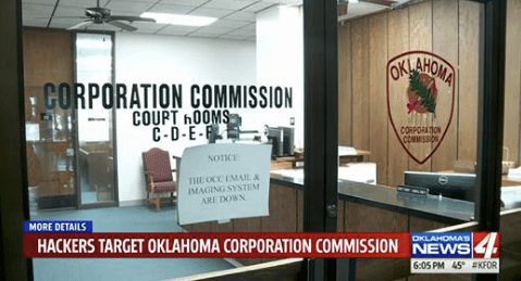 Oklahoma Corporation Commission Website Shutdown Due to Cyber Attack