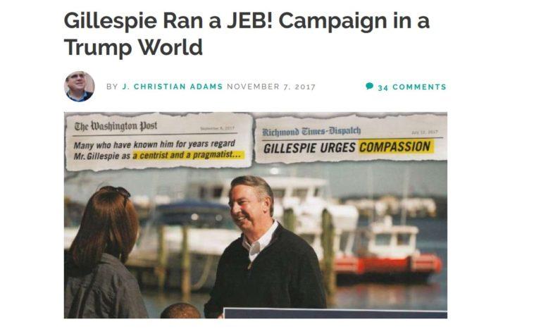 R3publicans: Establishment Ed Gillespie Didn't Run On Trump's Agenda; Trump Isn't Enacting His Agenda Either