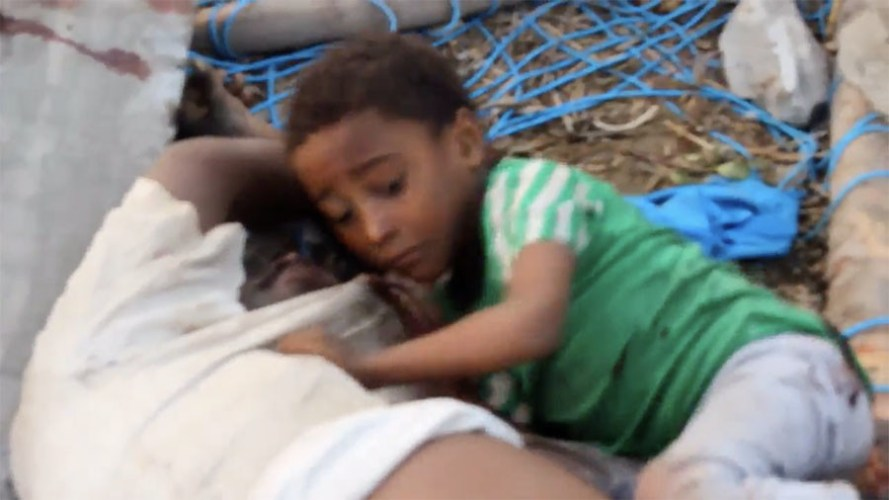 R3publicans:  Boy clinging to his dead father won't become face of Yemen war for millions in the West (GRAPHIC)