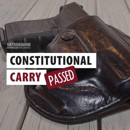 Senator Nathan Dahm:  Constitutional Carry -- PASSED!