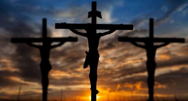Three crosses in the shadows via Julia Franklin on fb