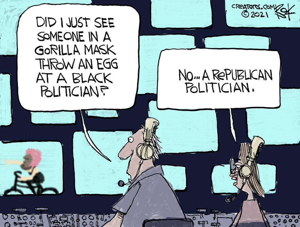 Gorilla mask, Newsom recall election