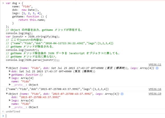 JavaScript を使って JSON を操作する方法の例