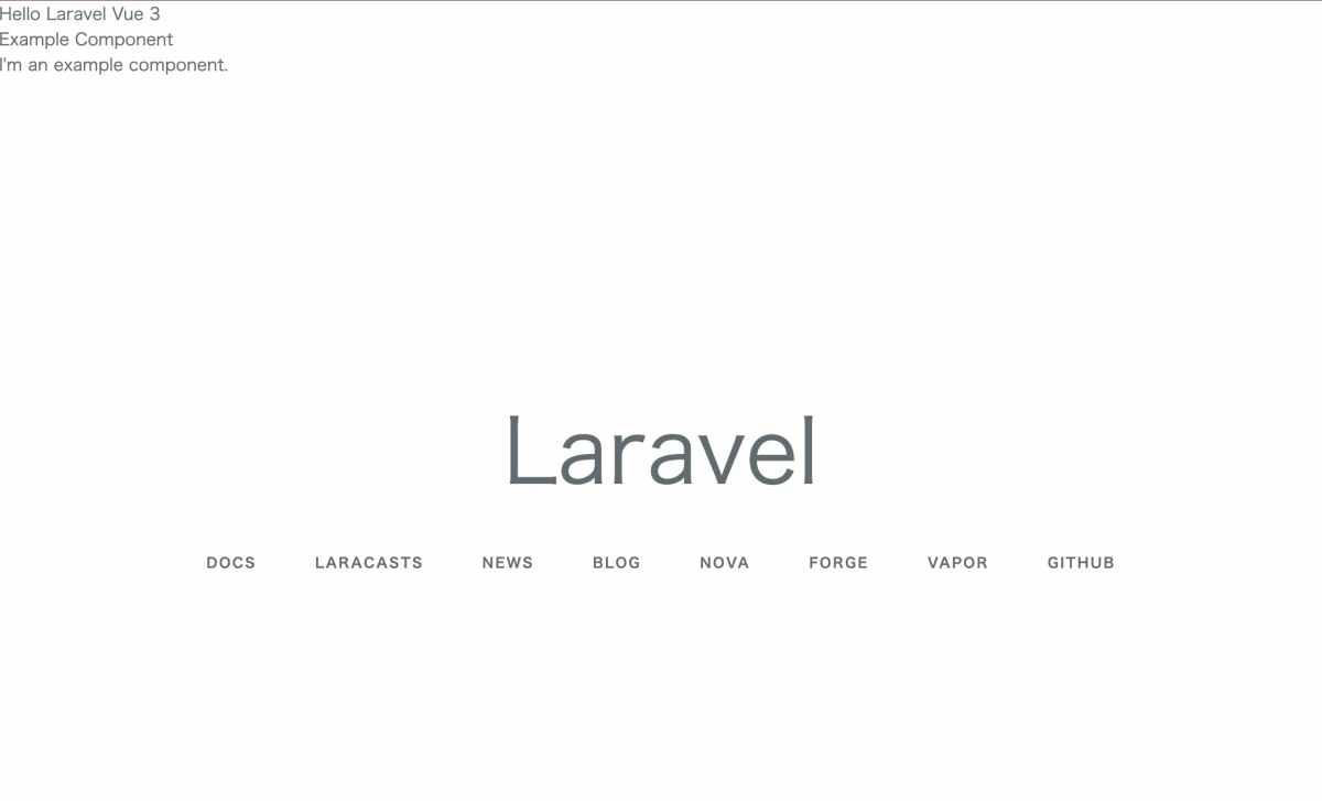 Laravel 6 で Vue.js 3 が動くことを確認