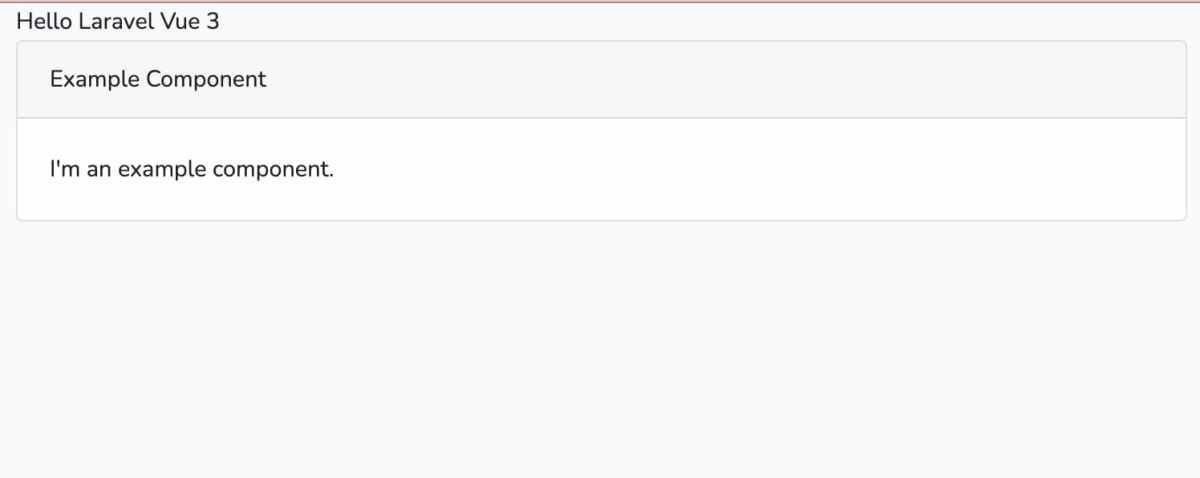 Laravel 6 、 Vue.js 3 が入っただけの状態から、最初の SPA ページを表示しました。