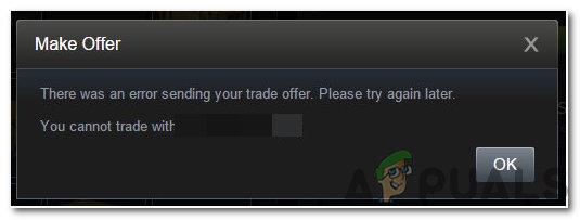 """Wie behebt man """"Es ist ein Fehler beim Senden Ihres Handelsangebots aufgetreten? Bitte versuchen Sie es später noch einmal"""" bei Steam?"""