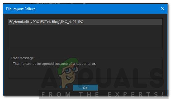 """So beheben Sie """"Die Datei kann aufgrund eines Header-Fehlers nicht geöffnet werden"""" in Adobe Premiere"""