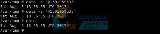 So stellen Sie Datum und Uhrzeit mit dem Unix-Epochenformat ein