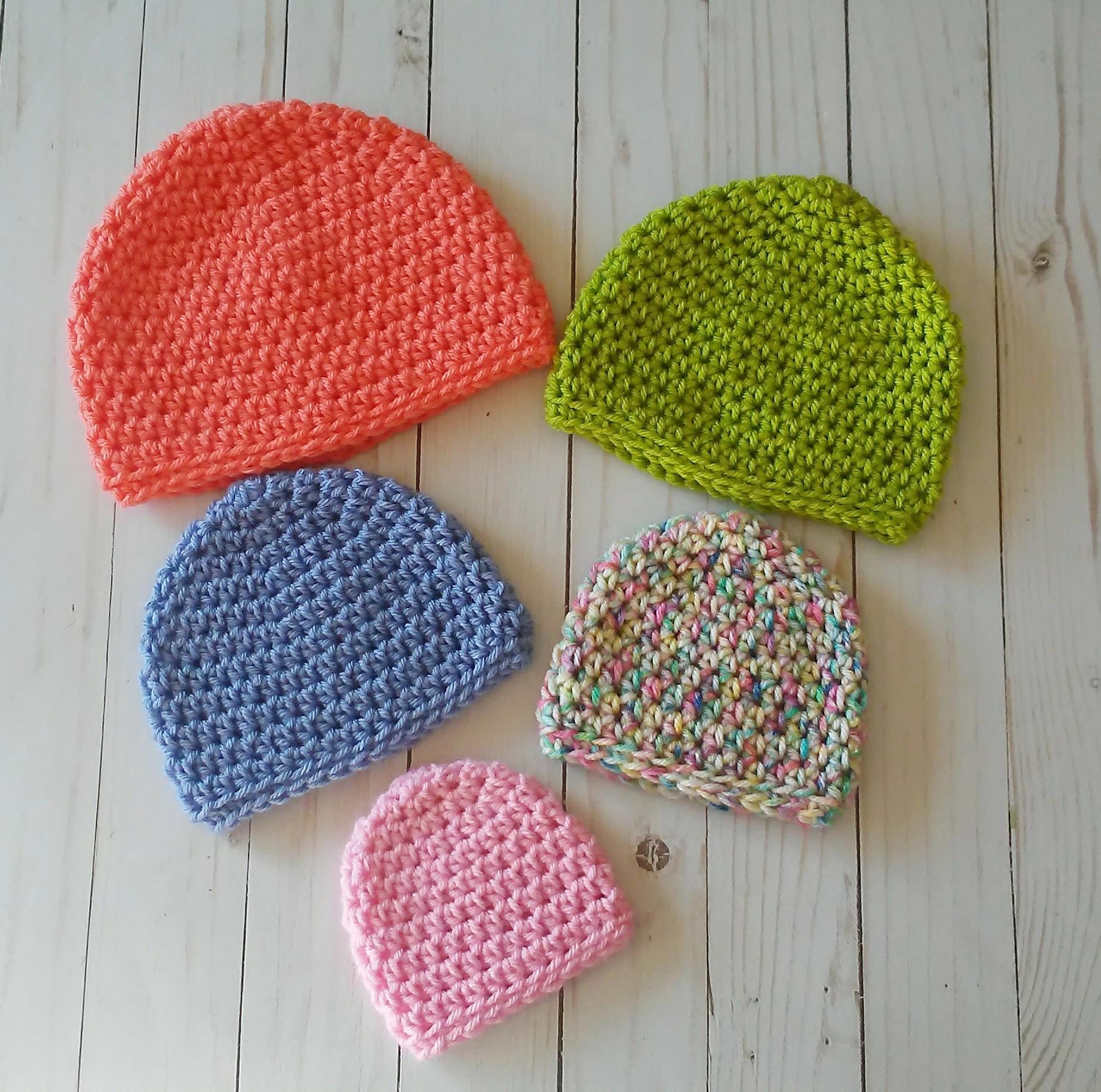Crochet Baby Beanie 0-3month