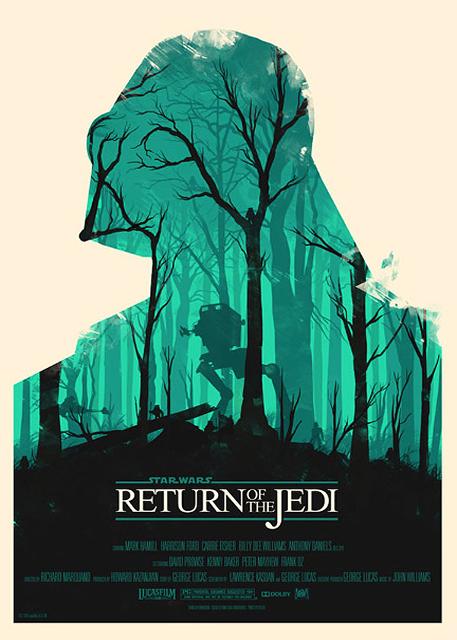 Alternatywne plakaty filmowe - Gwiezdne wojny: Część VI - Powrót Jedi (1983)