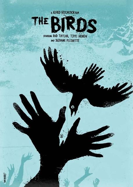 Alternatywne plakaty filmowe - Ptaki (1963)