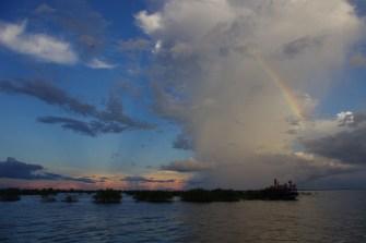 Tonle Sap - zachód Słońca