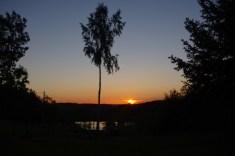 Cegielnia art Nowe Kawkowo - zachód słońca