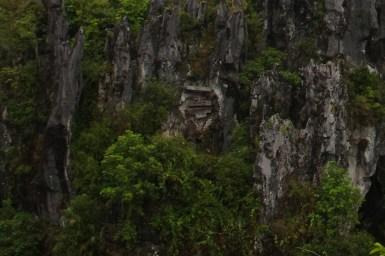 Sagada, trumny ukryte w skale - zbliżenie