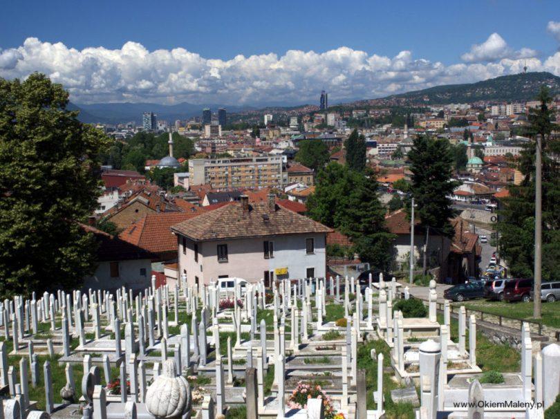 Sarajewo widziane z cmentarza Alifakowca