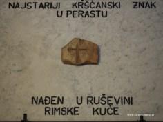 muzeum kościelne, pierwszy chrześcijański symbol z okolic Perastu