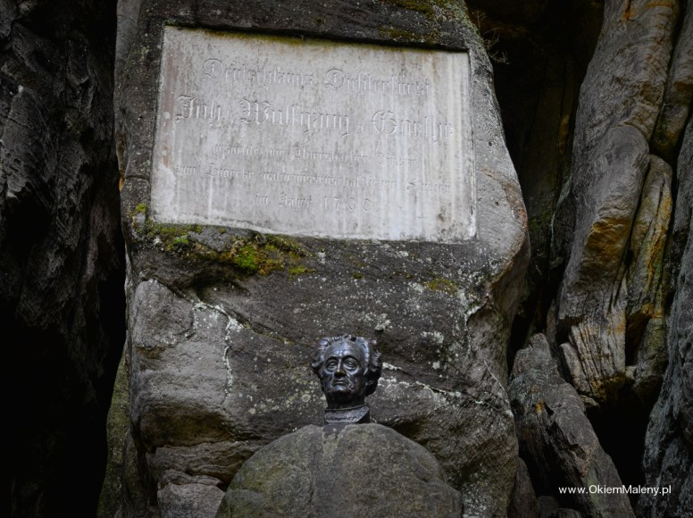 popiersie Goethego