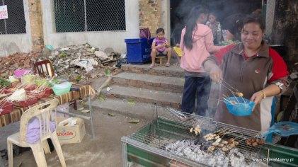 Wientian Laos uliczne jedzenie