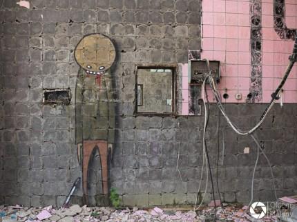 graffiti - opuszczone sanatorium