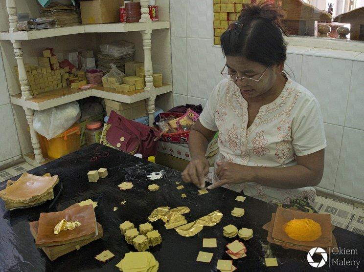 Mandalaj Okiem Maleny Birma złote listki 2