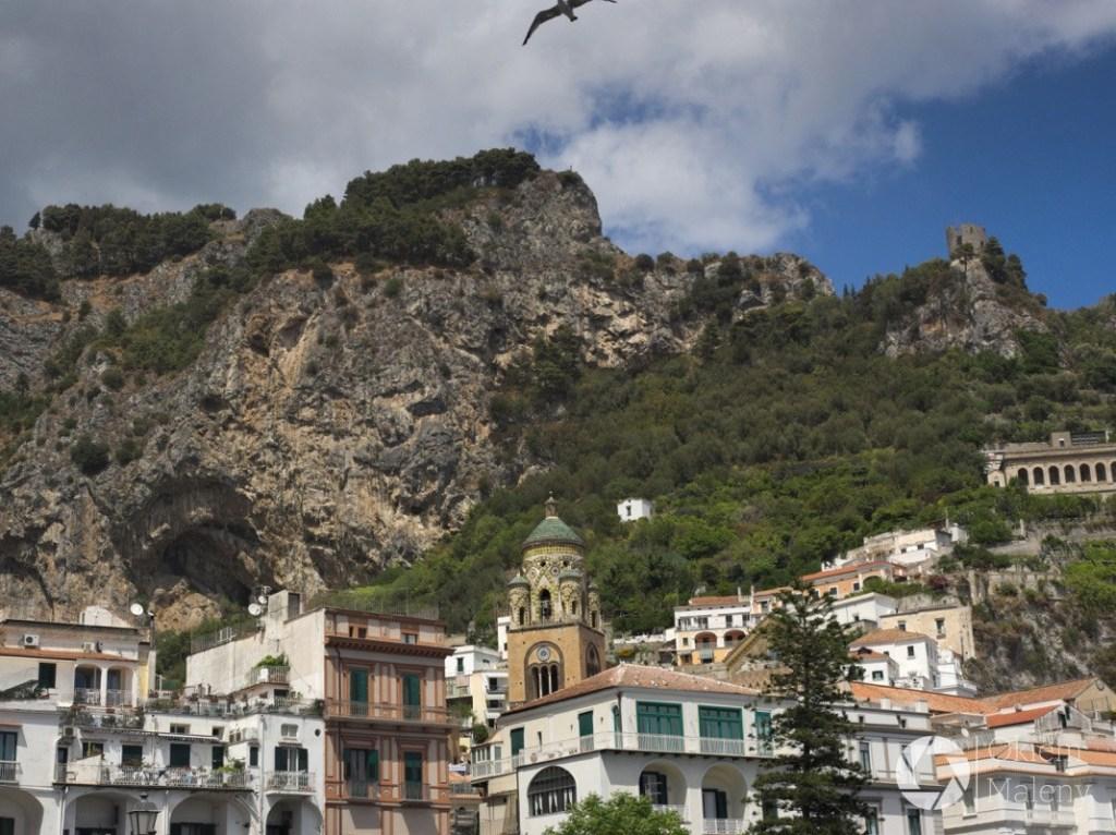 Amalfi widziane z portu