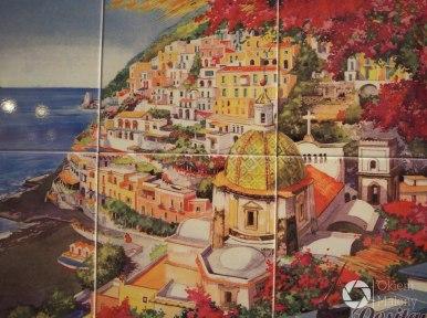 ceramika przedstawiająca Positano