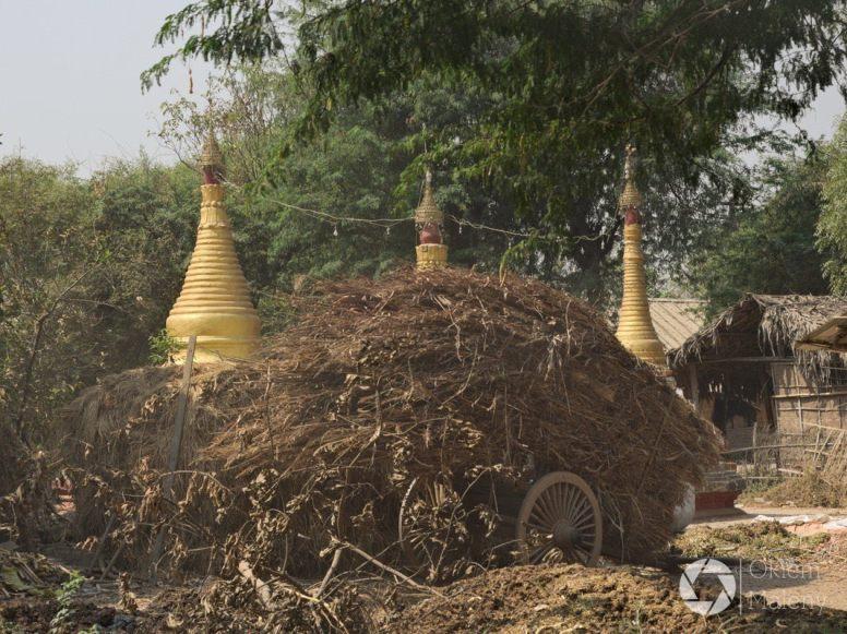 pagody w stogu siana, bagan, virma