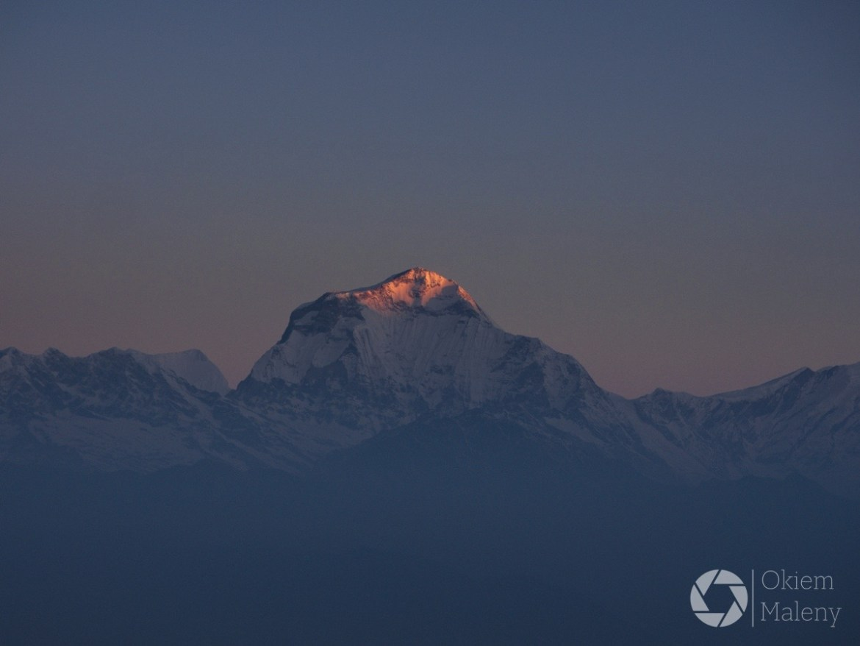 Dhaulagiri, Nepal, widok z Poon Hill