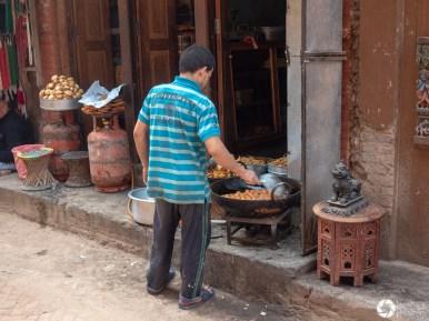 street food w Nepalu