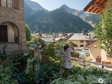 włoskie miasteczko górskie Courmayeur
