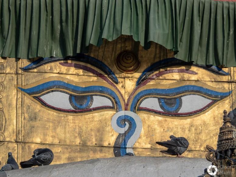 replika stupy Swayambhunath