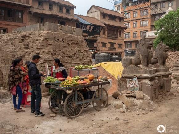 Patan, sprzedawca owoców
