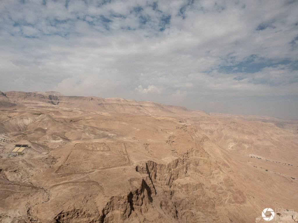 ślady dawnych stanowisk rzymskich - twierdza Masada