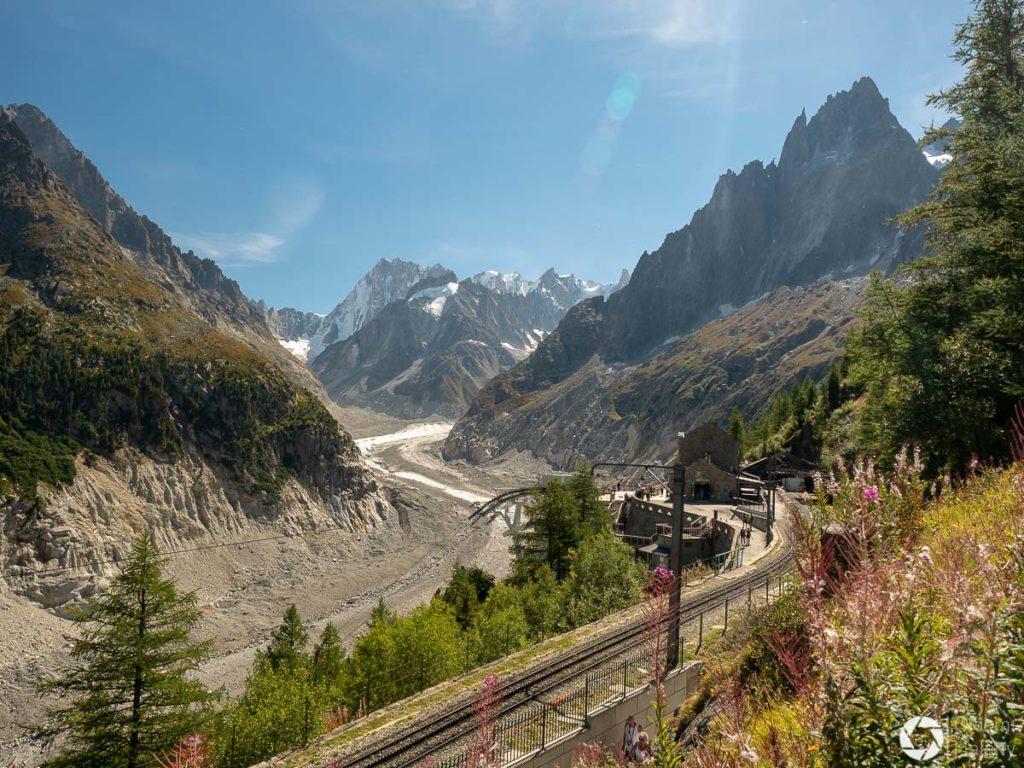 pociąg do Montenvers Mer de Glace z Chamonix