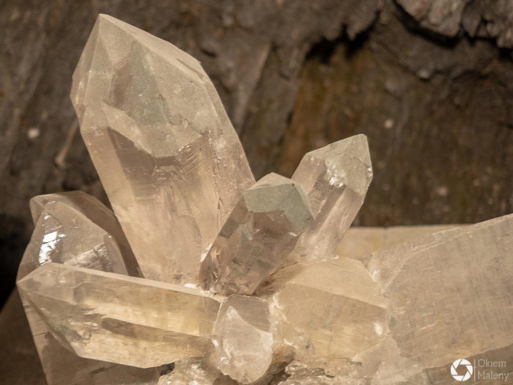 wystawa kryształów w Montenvers