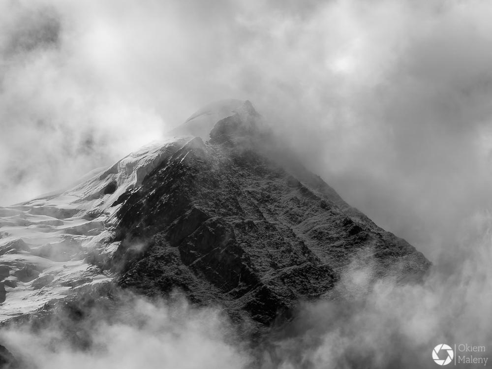 widok na pasmo Mont Blanc