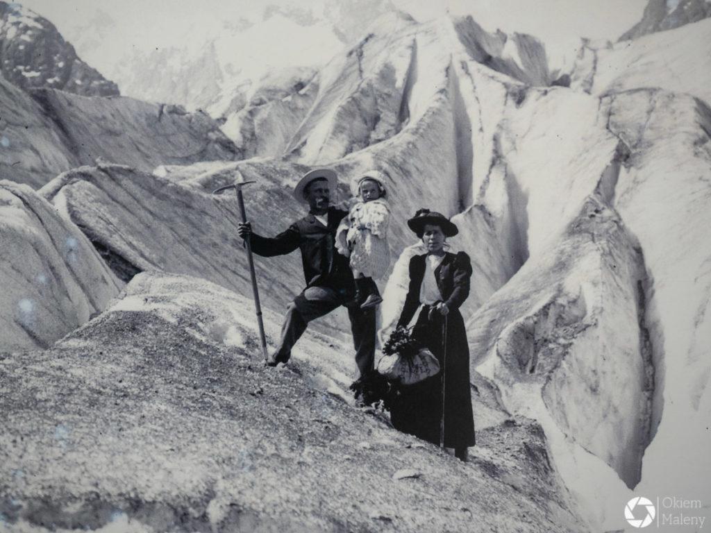 archiwalne zdjęcie mer de glace