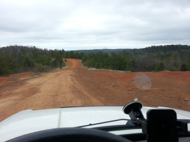 The road to Camp Mabey. You might grade this road as a 1 diamond trail.