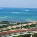 ニライカナイ橋の展望台からの景色